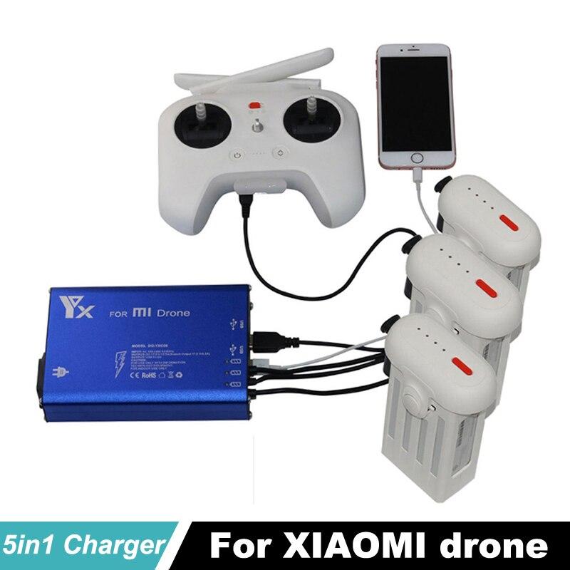Xiao mi Drone chargeur RC quadrirotor hélicoptère 4 K caméra 5 en 1 batterie pièces de rechange et Trans mi tter chargeur rapide pour xiaomi mi
