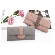 цена на Women Purse New Fashion Three-Folds Wallet Portable Multifunction Long Change Purse Hot Female Coin Zipper Clutch For Girl Phone