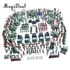 MagiDeal Plastic Army Men Playset 4cm Soldier Action Figures with Scaled Vehicles - 307 Pieces