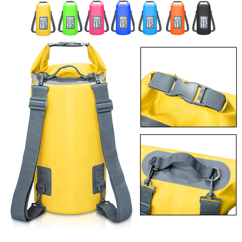 Us 10 65 50 Off 5l 30l Waterproof Bags Storage Dry Sack Bag Pvc Backpack For Canoe Kayak Rafting Outdoor Sport Swimming In River