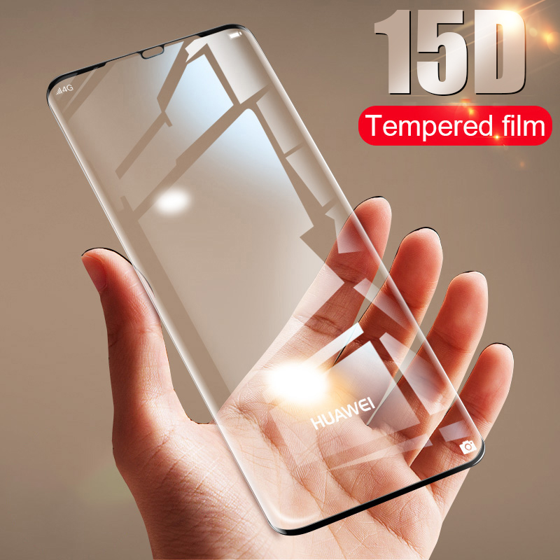 Tempered Glass Film Black Color : Black Wangl Mobile Phone Tempered Glass Film 25 PCS Full Screen Full Glue Anti-Fingerprint Tempered Glass Film for Huawei Mate 20 Lite
