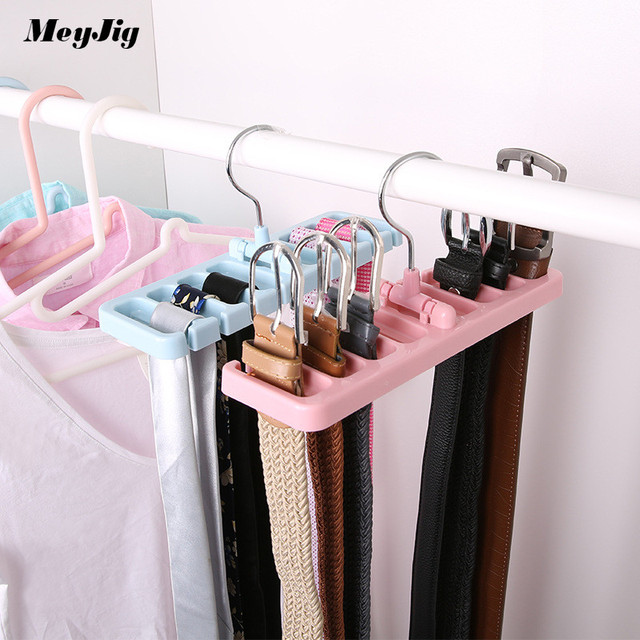Etonnant MeyJig Multifunction Space Saver Storage Rack Tie Belt Organizer Scarf  Holder Bra Hook Closet Wardrobe Organization