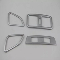 car auto cover styling For Subaru Outback 2014 2015 2016 2017 ABS chrome armrest air conditioning outlet seat heater button trim