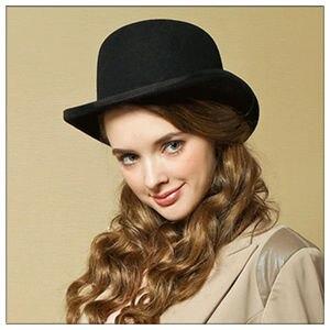 Image 4 - 100% צמר גברים של ביילי Ofhollywood פדורה כובע עבור אדון מעיכים Hantom אבא Bowler כובע יוקרה Billycock כובעים