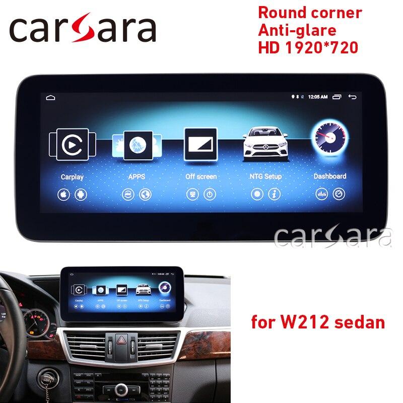 W212 touch screen rotonda angolo HD 1920 anti-glare unità di testa radio 10-15 E250 E300 10.25