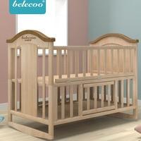 Belleco детская кроватка BB кроватка колыбель кровать мульти функция детская новорожденная стежка кровать из массива дерева без краски кровать