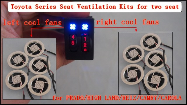 car seat ventilation kits for PRADO,HIGH LAND,REIZ,CAMRY, two seats per set ,