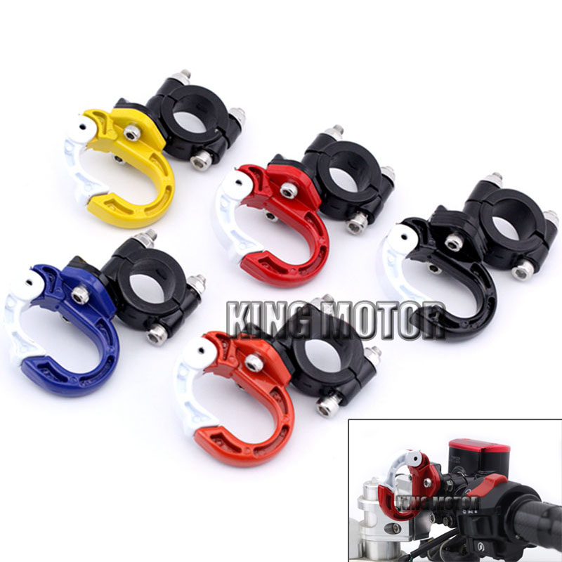 For DUCATI MONSTER 696/695/659/620/600/400 Motorcycle Accessories Hang buckle for Helmet for 22mm 7/8 Handlebar Five Colors 22mm 7 8 motorcycle aluminum handlebar grips bar ends sliders for ducati monster 600 dark monster 620 monster 696 monster 750