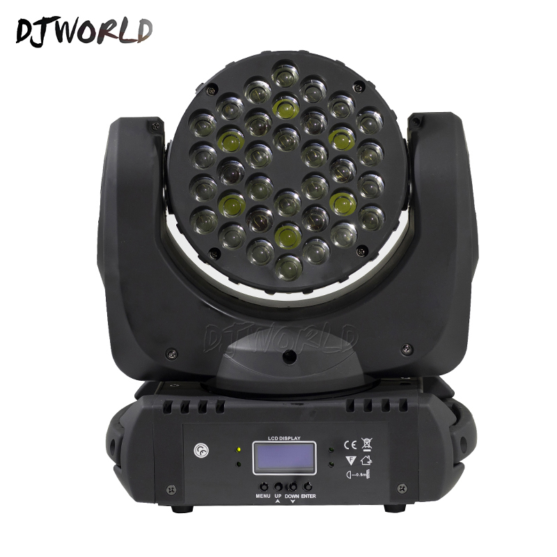 Image 2 - LED Beam 36x3W Moving Head Light RGB LED Wash Light With 9/16 Channels Linear Dimming DMX512 Stage Lights Professional Stage&DJ-in Stage Lighting Effect from Lights & Lighting