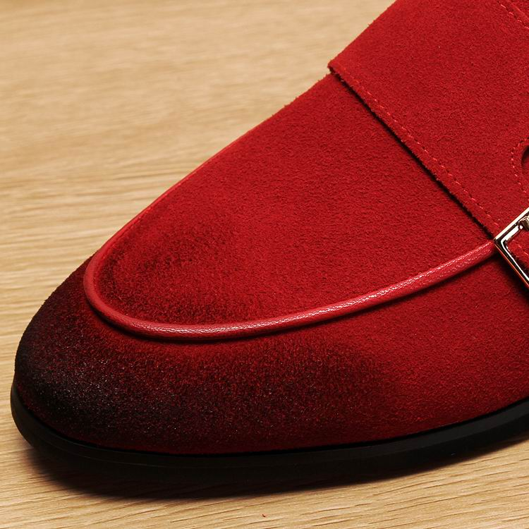 Errfc 새로운 도착 레드 패션 남자 로퍼 신발 라운드 발가락에 동향 슬립 블랙 레저 신발 남자 플랫 버클 스트랩 nubuck 38 43-에서남성용 캐주얼 신발부터 신발 의  그룹 3