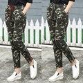 2XL Mulheres Camuflagem Calças Basculador Novo 2017 Cópia do Camo Sweatpants Corredores Com Cordão Elástico Na Cintura Harem Pants Casuais Plus Size