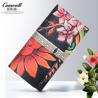 NEW Designer Clutch Wallets Women Genuine Leather Long Wallets Party Bag Coin Purses Ladies Wallets