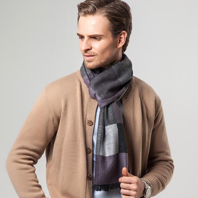 Otoño e invierno new business casual regalo de La Manera bufanda a cuadros bufanda de los hombres del color Del Encanto de los hombres bufandas