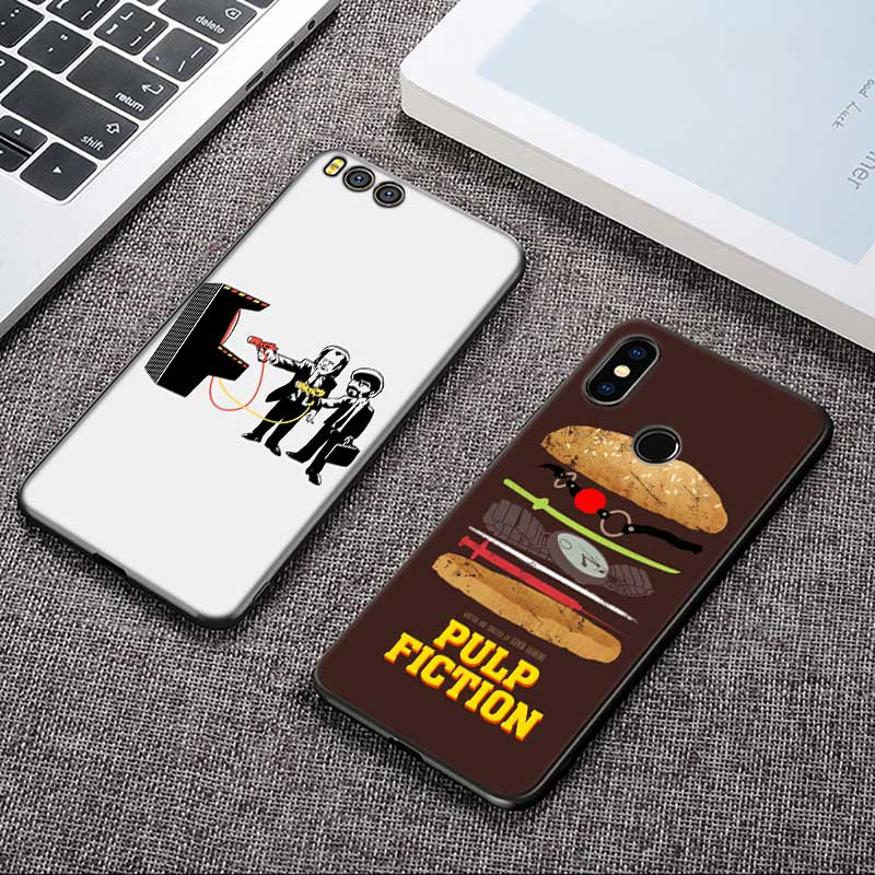 For Xiaomi 6 8 A1 A2 Redmi Note S2 4 4X 5 5A 6 6A Pro Lite Black Silicon Phone Case PULP FICTION Style in Fitted Cases from Cellphones Telecommunications