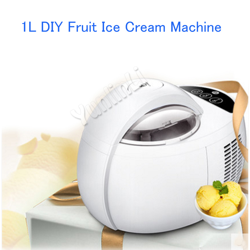 1L DIY Fruit Ice Cream Machine Household Ice Cream Maker Automatic Fruit Ice Cream Machine 110W ICM-1000A шагомер omron hj 203 ed orange page 1