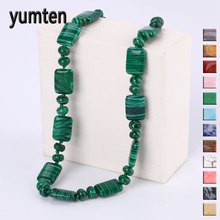 Yumten Men Short Necklace Vintage Women Fashion Smycken Statement Stone Power Ädelsten Crystal Male Gift Kvinna nyckelbenet kedja