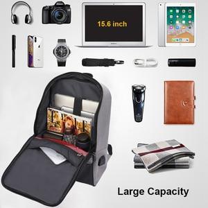 Image 3 - Men laptop backpack Anti theft backpack 15.6 Double USB large capacity backpacks waterproof bagpack men mochila hombre back pack