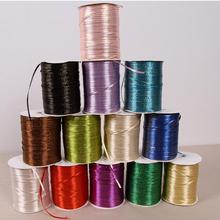 """25 ярдов/партия) 1/""""(3 мм) Золотая лента высокого качества, атласные ленты, ленты для упаковки подарков, украшения для свадебной вечеринки"""
