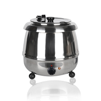 ITOP Stainless Steel 10L Soup Pots Multi Cooker Electric Soup Kettle Machine Chicken Bone Stew Soup Adjustable Temperature