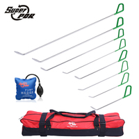 PDR Rods Hook Tools Paintless Dent Repair Tool Kit 8pcs Green Push Rods Dent Removal Auto