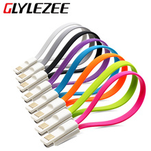 Glylezee 22cm Magnet Micro USB Mobile Phone USB Cable Sync Data Transfer Power Charging Cable for Android Cellphone