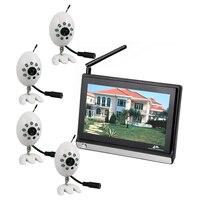 1v4 2.4 GHz cámara inalámbrica 4ch entrada IR visión nocturna 7 pulgadas inalámbrico bebé Monitores