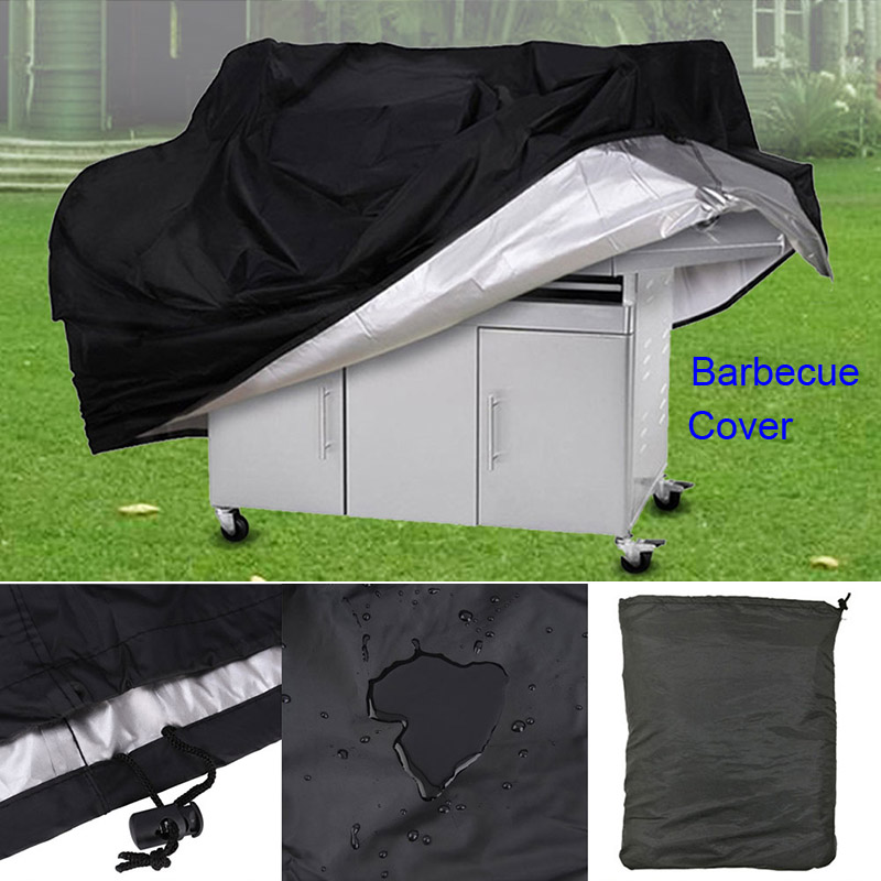 Outdoor Waterproof BBQ Cover Gas Barbecue Grill Protection Covers Hood TB Sale small grill cover