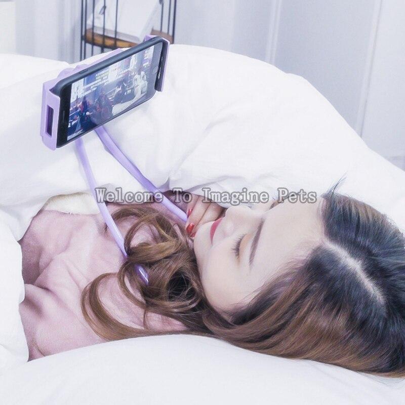 Faul Halterung Universal 360 Grad Rotation Flexible Telefon Selfie Halter Schlange-wie Hals Bett Montieren Anti-skid Für telefon 7 farbe