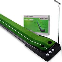 New 2.5M Golf Putting Practice Mat Green Grass Lawn Outdoor Indoor Putting Golf Pad Trainer Aid Equipment