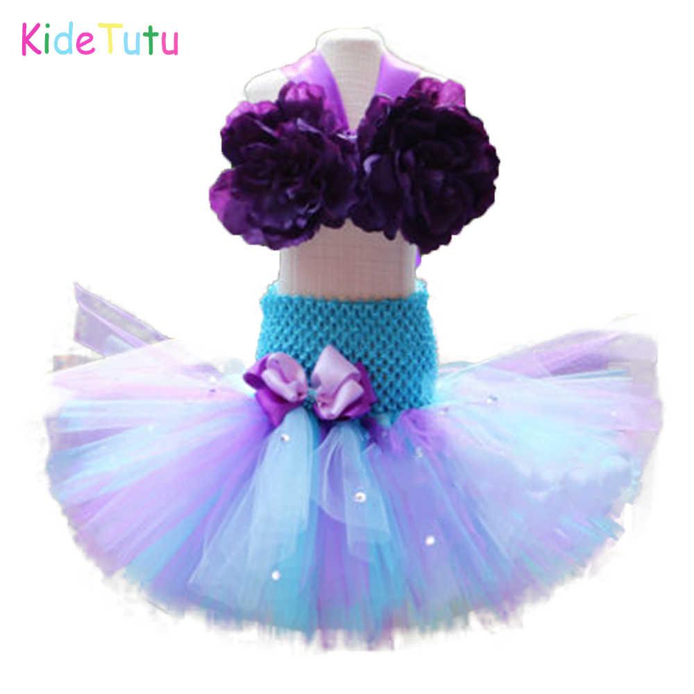 Clothing Sets Little Mermaid 1st Birthday Tutu Outfit Ariel Tutu Set Under The Sea Cake Smash Outfit Clothing