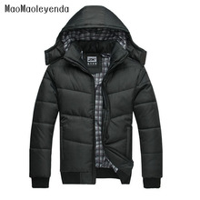 maomaoleyenda 2017 Jackket Men Winter Jacket Big Size M-4XL New Arrival Casual Slim Cotton With Hooded Parkas Casaco Masculino