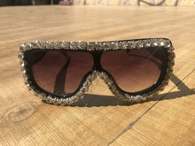 2019 Large Shades Mens Sunglasses Bling Diamond Women Sun Glasses UV400 Rectangle Oversized Eyewear New Gafas de sol