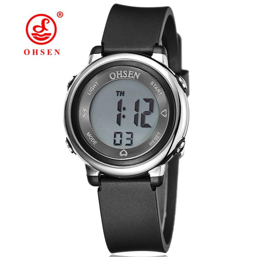 Diseño de moda OHSEN Horloge Digital Niños Niños Reloj de pulsera - Relojes para hombres