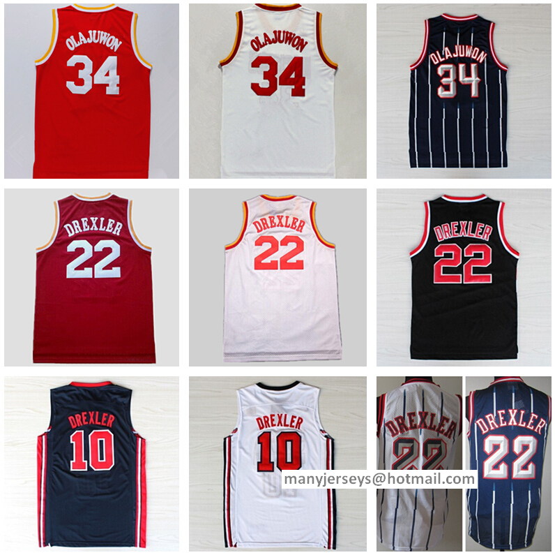 online retailer e7a83 e9d77 34 hakeem olajuwon jersey usa