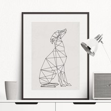 2016 NEW Dog Minimal Greyhound Poster, Wall Art Print Canvas Minimalist Poster, Home Decor, Frames Not included