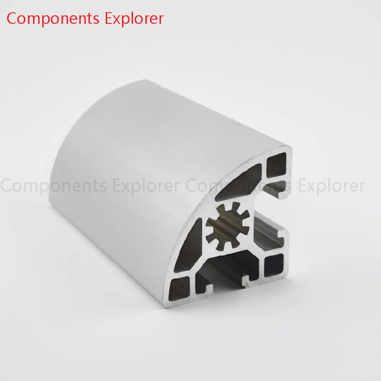 Arbitrary Cutting 1000mm 4545 Arc Aluminum Extrusion Profile,Silvery Color.