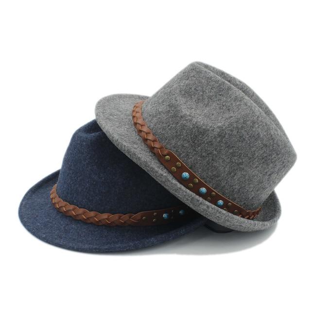 Pura lana mujeres hombres chapeau Femme Fedora sombrero para caballero  sombrero Trilby Iglesia Derby Cloche tapa f3c5165942ce
