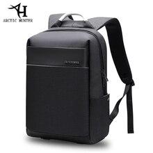 ARCTIC HUNTER 15.6 inç USB su geçirmez dizüstü erkek çanta spor seyahat iş not defteri erkek sırt çantası okul çantası paketi Mochila Bolsa