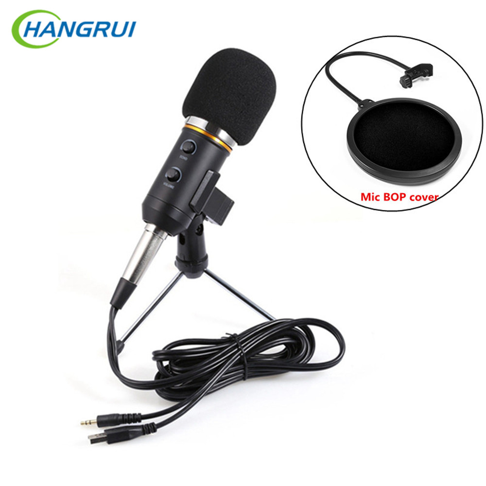 HANGRUI MK-F200TL Condenser Microphone professional Meeting Recorder Wired studio microp ...