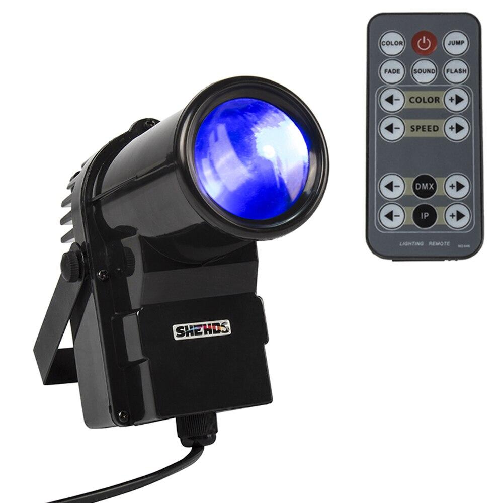 Wireless Remote Control Mini 10W Pinspot Light RGBW 4in1 LED Spot Light 8 CHs DMX512 Dance Party Disco Wedding Show Home Ball DJ