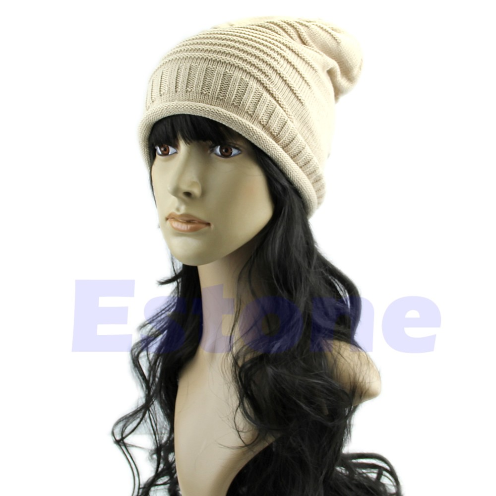 NºInvierno Caliente Beanie ganchillo del knit de esquí sombrero ...