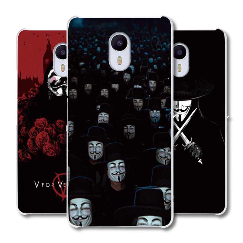 MEIZU U10 U20 M2 M3S <font><b>M3</b></font> M5S M5 Note Pro 5 6 MX4 MX5 MX6 protective covers <font><b>V</b></font> for Vendetta Poster plastic <font><b>phone</b></font> case