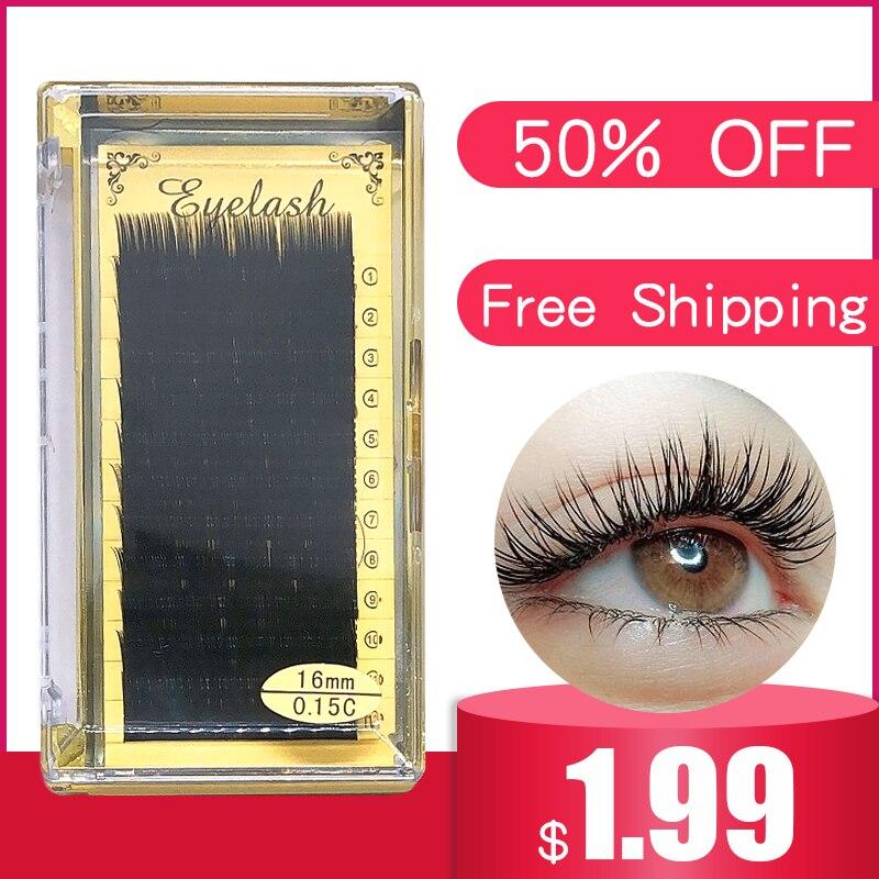 12Rows Faux Mink Individual Eyelash Professionals Soft Mink Eyelash Extension
