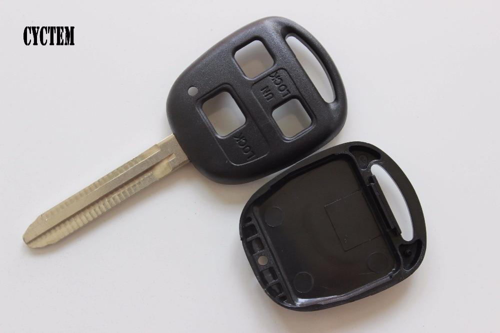 Cyctem 3 Пуговицы удаленного Оболочки Замена ключи от машины Blank Case подходят для Toyota Camry с Toy43 лезвие бесплатная доставка