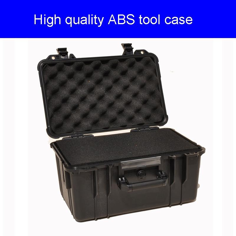 چمدان جعبه ابزار جعبه ابزار ضد آب مهر و موم شده ضد آب مورد دوربین تجهیزات امنیتی ABS با روکش از پیش فوم فوم