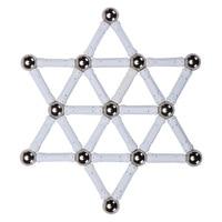 White Magnetic Constructor Toys For Children Building Designer Toy White Classic Metal Balls Magnet Bars Blocks