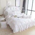 Белоснежка постельное белье для принцессы набор King queen размер роскошный 4 шт. одеяло с оборками покрывало постельный комплект 100% хлопок