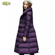 2017 Новая Мода Теплое С Капюшоном Куртки Женщин Высокого качества Средней длины Корейский Удобные Мягкие Женщины Хлопка-ватник OK90