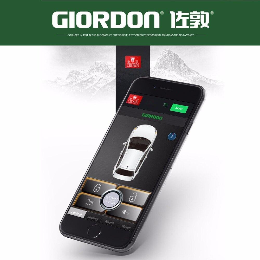 PKE alarme de voiture bouton d'arrêt de démarrage du moteur poussoir + système d'accès au confort d'entrée sans clé + téléphone APP démarrage à distance moteur de voiture