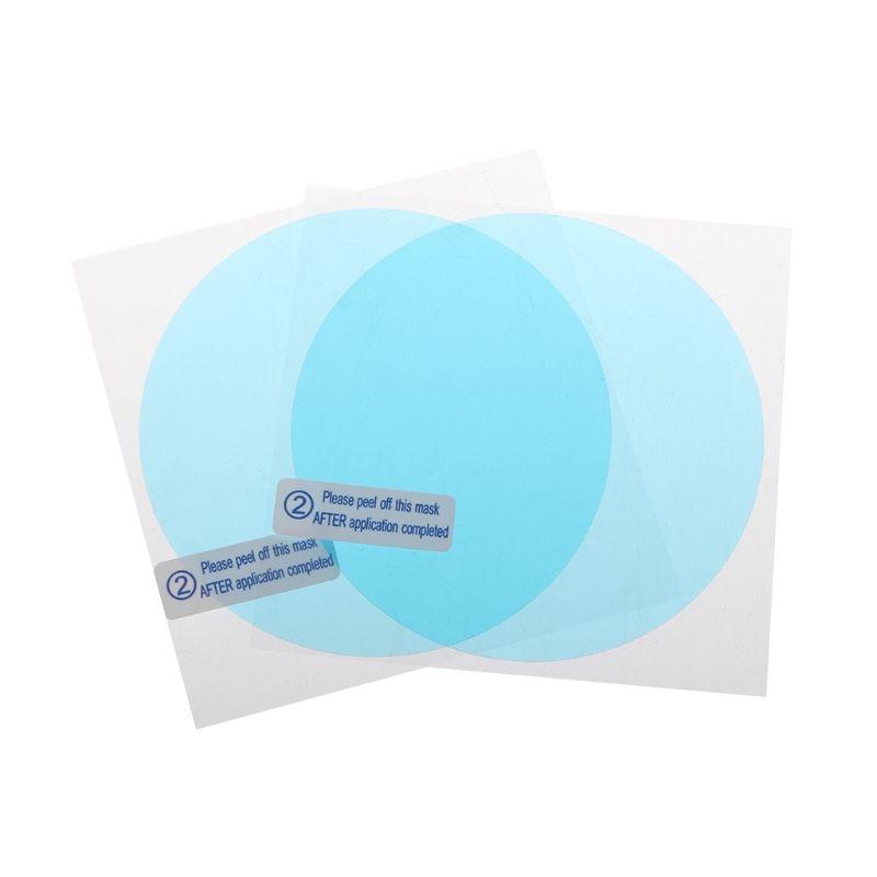 New 1 Pair Auto Car Anti Water Mist Film Anti Fog Coating Rainproof Hydrophobic Rearview Mirror Protective Film 4 Sizes 3